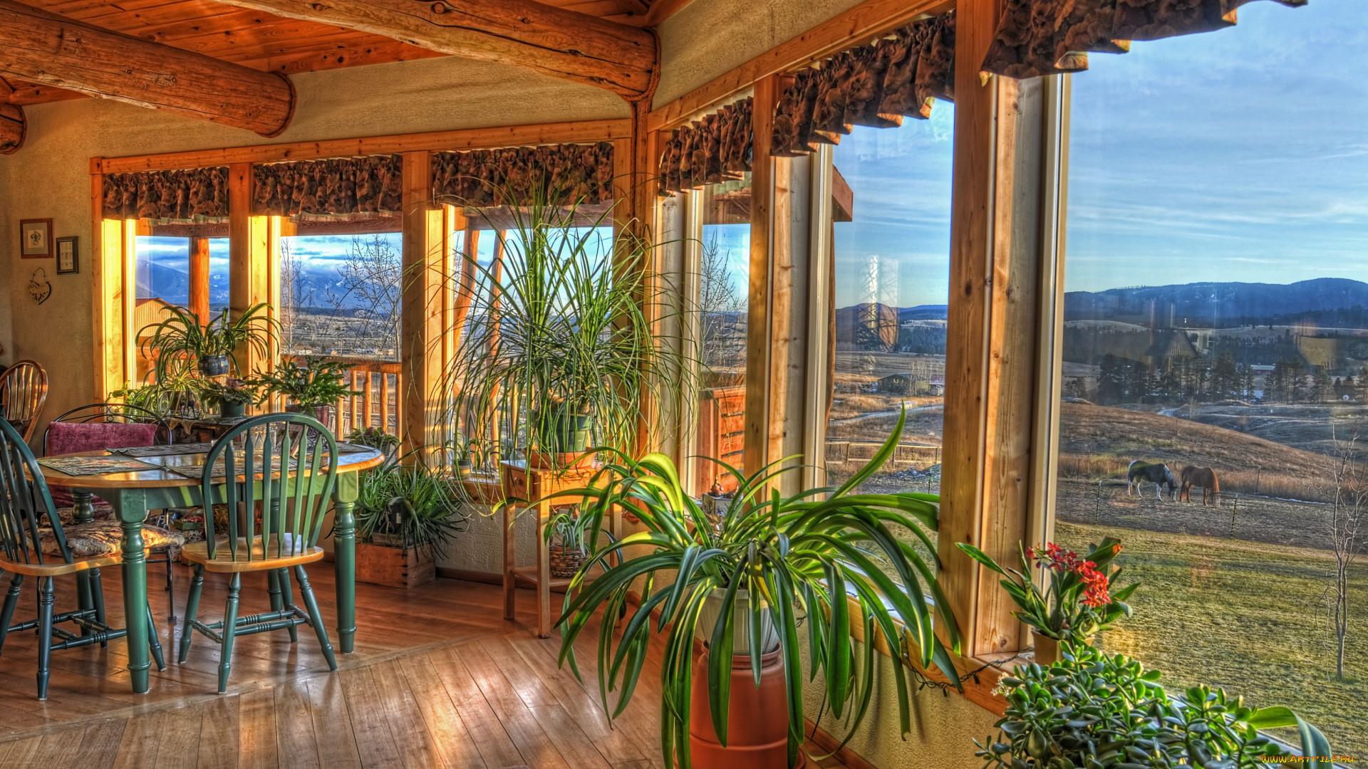 Обои интерьер веранды, террасы, балконы, обои для рабочего с.